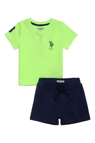 U.S. Polo Assn. Green Player Short Set