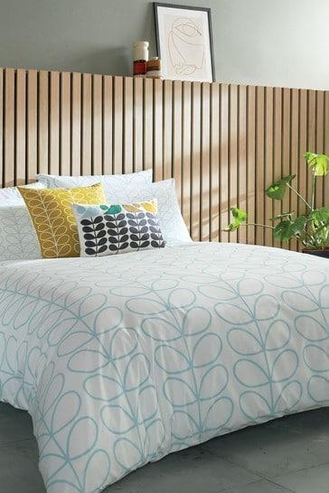 Orla Kiely Blue Linear Stem Cotton Duvet Cover