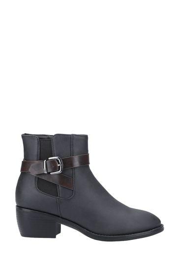 Divaz Black Farrah Ankle Boots