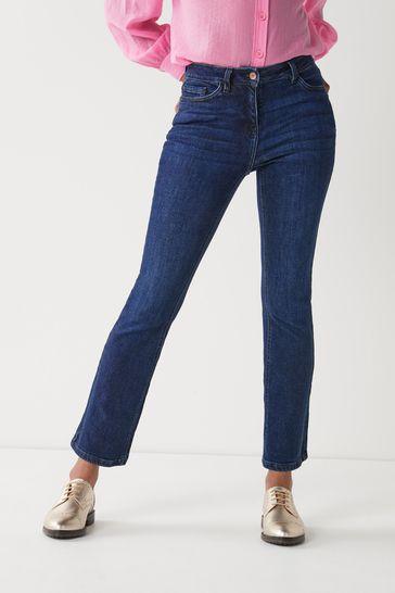 Dark Blue Hourglass Boot Cut Jeans
