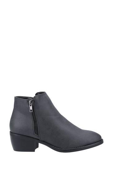 Divaz Black Ruby Ankle Boots