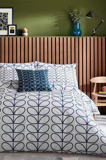 Orla Kiely Blue Linear Stem Duvet Cover