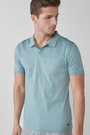 Light Blue Premium Cotton Revere Polo