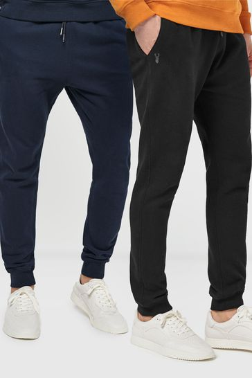 2 Pack Black/Navy Joggers Jersey