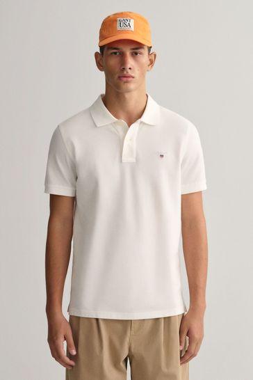 GANT Plain Pique Logo Polo Shirt