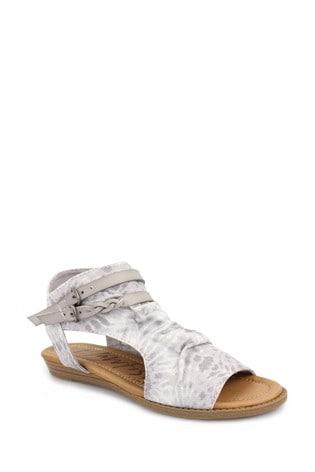 Blowfish Grey Blumoon Micro-Wedge Heel Tie Dye Sandals