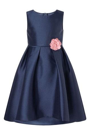 Monsoon Navy S.E.W Hi Low Duchess Twill Dress