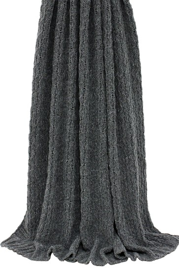 Riva Home Grey Lilya Knitted Throw