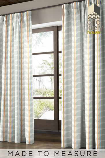 Orla Kiely Grey Two Colour Stem Made To Measure Curtains