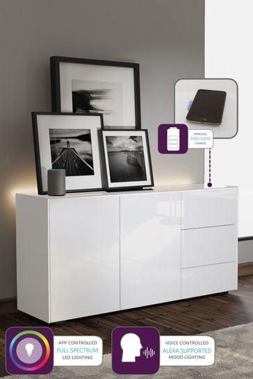Frank Olsen Smart LED White Sideboard