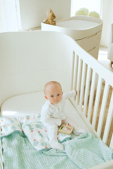 Gaia Baby Complete Sleep And Dresser Set White