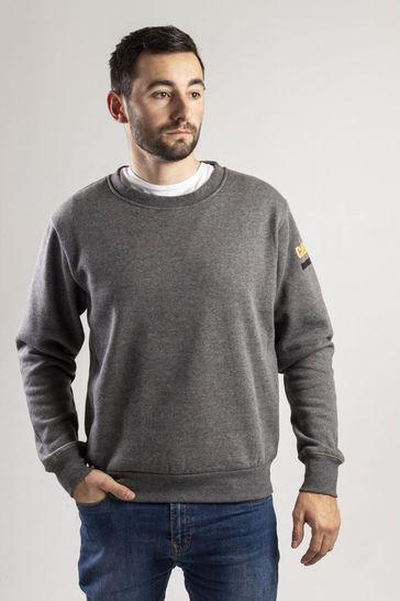 CAT® Grey Essentials Crew Neck Sweater
