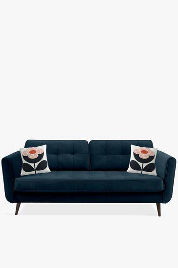 Orla Kiely Blue Ivy Large Sofa