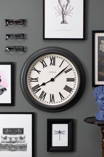 Jones Clocks Opera Charcoal Grey Wall Clock