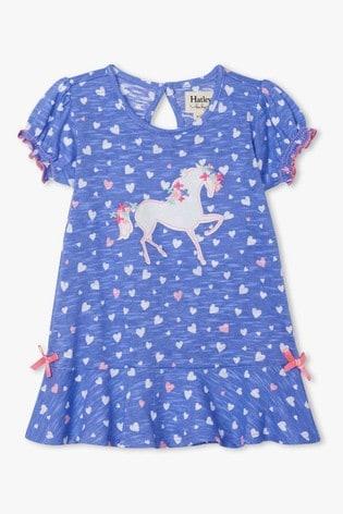Hatley Purple Fancy Unicorn Baby Flounce Hem Dress