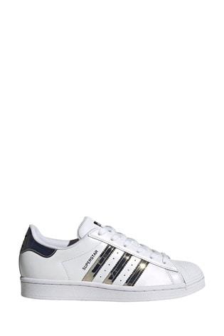 adidas White Originals Superstar Trainers