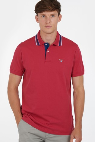 Barbour® Red Multi Tip Polo Shirt