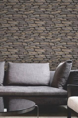 Fine Décor Natural Distinctive Slate Sidewall Wallpaper