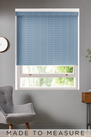 Orla Kiely Grey Woven Linear Stem Made To Measure Roller Blind
