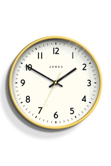 Jones Clocks Jam Fizzy Yellow Wall Clock