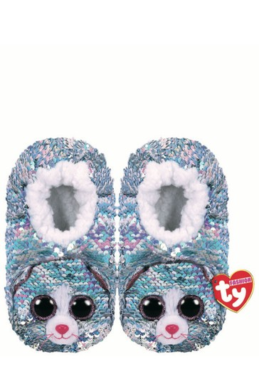 Ty Beanie Whimsy The Cat Sequin Slippers