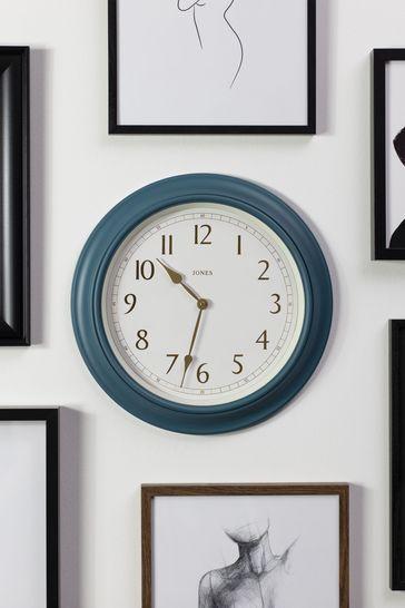 Jones Clocks Supper Club Ocean Blue Wall Clock
