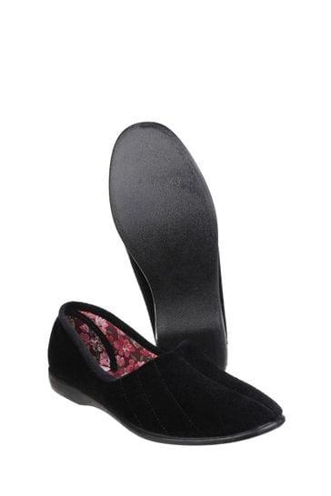 GBS Black Audrey Slippers