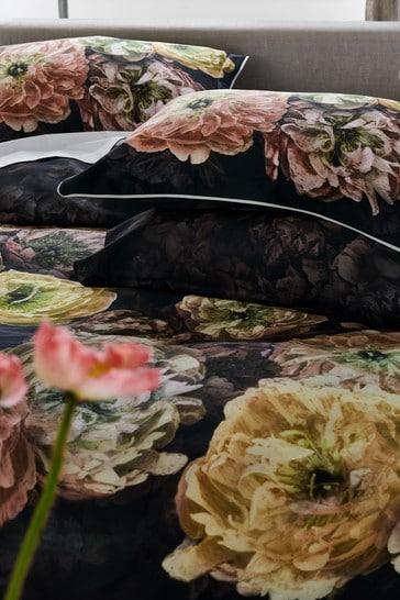 Designers Guild Blue Le Poeme de Fleurs Pillowcase