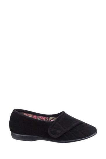 GBS Red Audrey Touch Fastening Slippers
