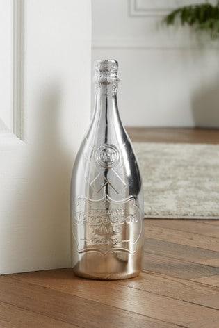 Silver Bottle Doorstop