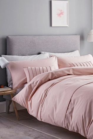 Catherine Lansfield Pink Pom Pom Duvet Cover and Pillowcase Set
