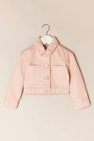 River Island Pink Pure Crop Denim Jacket