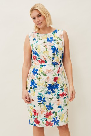 Phase Eight Cream Etta Printed Jersey Dress