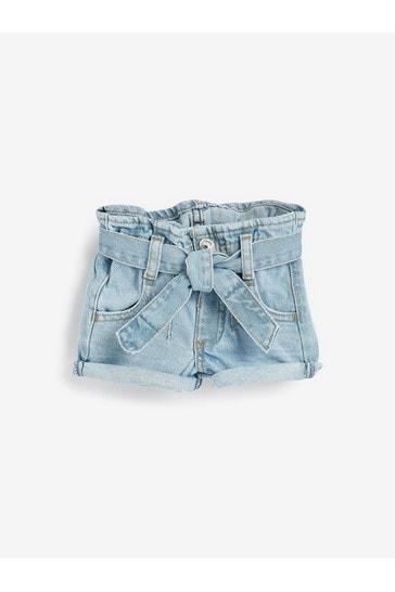 River Island Blue Diamond Paperbag Shorts