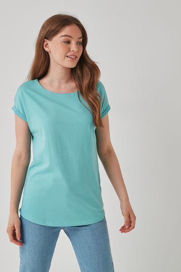 Teal Cap Sleeve T-Shirt