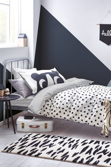 Myleene Klass Monochrome Bear And Polka Dot Bedding Bundle