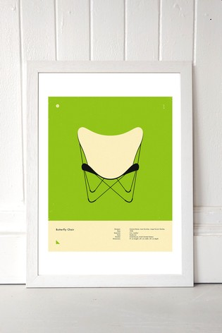 Green Butterfly Chair Print by East End Prints