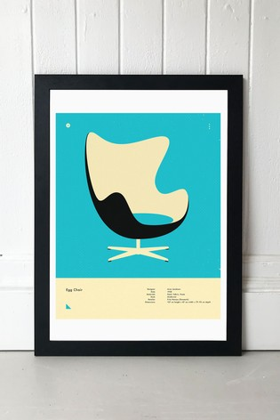 Egg Chair Print by East End Prints