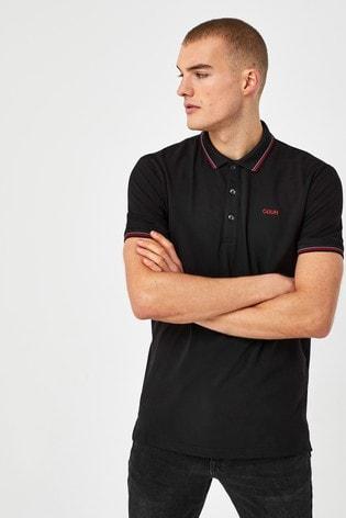 HUGO Black Dinoso212 Poloshirt