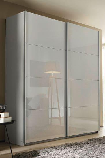 Courtney 1.81m Glass Sliding Wardrobe By Rauch