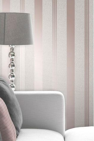 Fine Décor Black Quartz Stripe Wallpaper