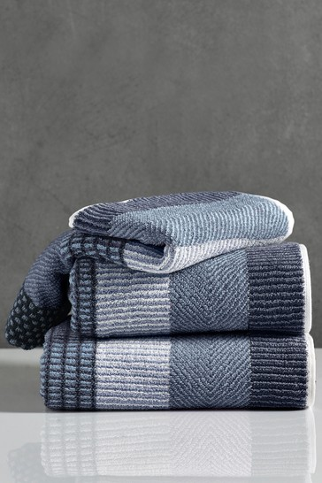 Blue Stripe Egyptian Cotton Towels