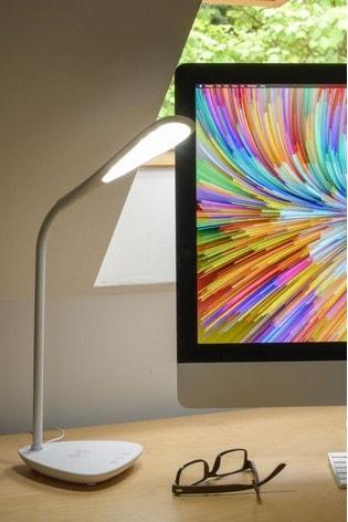 Koble White Elliptical Phone LED Wireless Charging Lamp