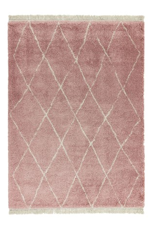 Asiatic Rugs Pink Rocco Diamond Rug