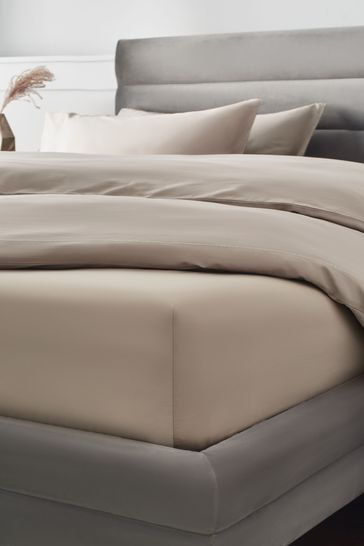 Mink Natural 300 Thread Count Collection Luxe Extra Deep Fitted 100% Cotton Fitted Sheet