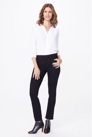 NYDJ Sheri Black Slim Leg Jeans