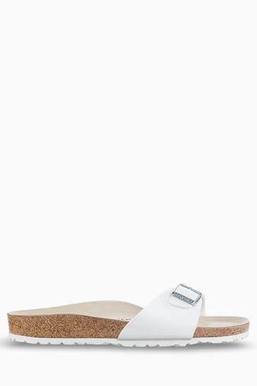 Birkenstock® White Madrid Sandals