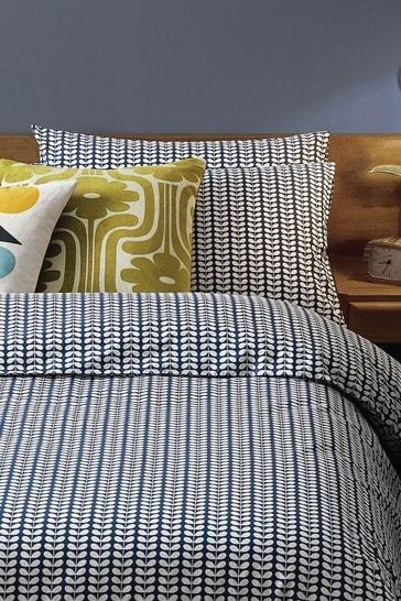 Orla Kiely Blue Tiny Stem Pillowcases