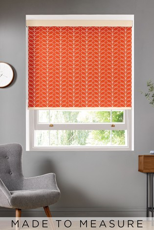 Orla Kiely Red Linear Stem Made To Measure Roller Blind