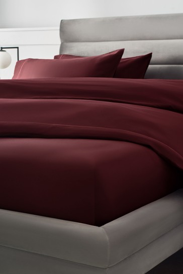 Deep Red 300 Thread Count Collection Luxe Deep Fitted 100% Cotton Fitted Sheet